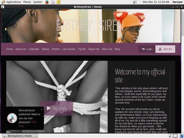 Britneysirenworld.com Free Memberships