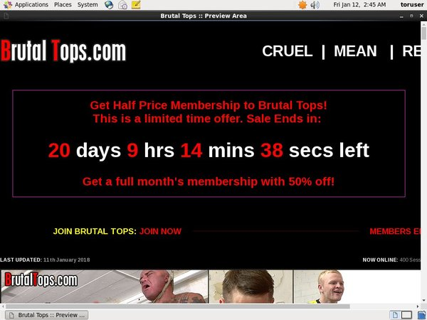 Brutaltops.com Trial Membership Offer