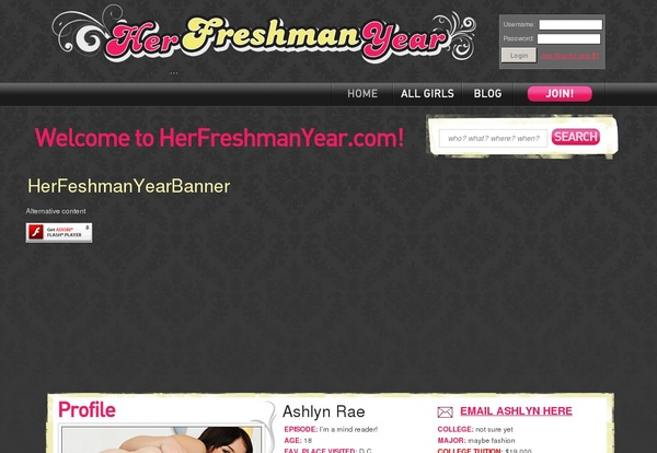Discount Her Freshman Year Trial Membership