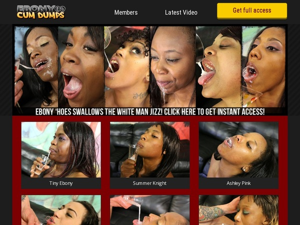 Ebony Cum Dumps Discount Trial Offer