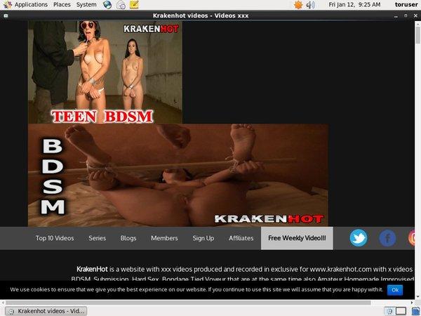 Free Kraken Hot Porn Accounts