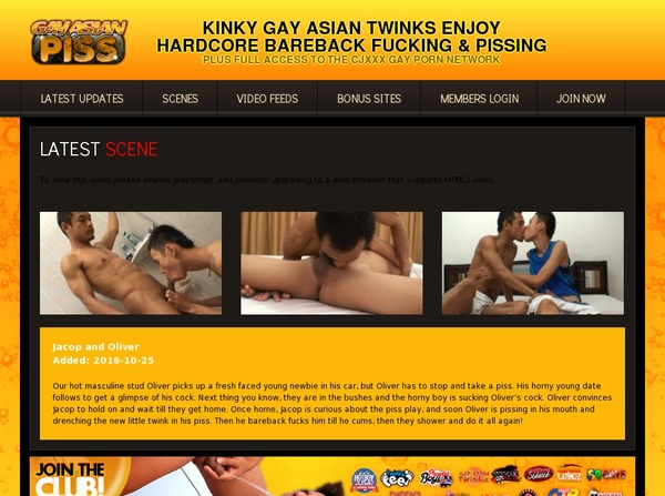 Gay Asian Piss Free Trial Promotion
