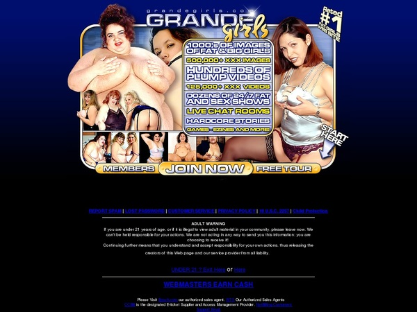 Get A Free Grandegirls.com Account