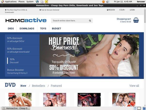 Homoactive Using Discount