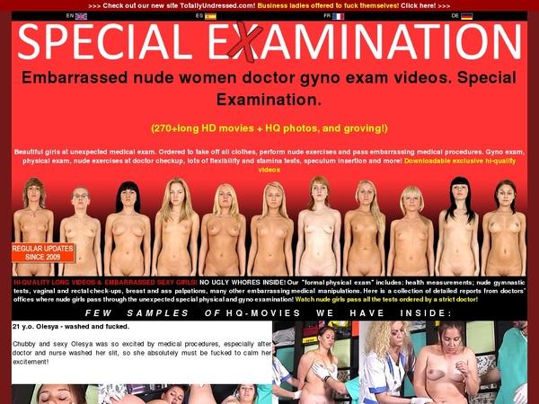 Free Special Examination Trial Account