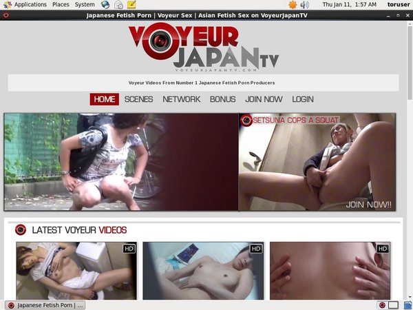 Voyeur Japan TV With Discover Card