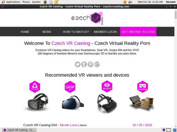 Czech VR Casting Renew Membership