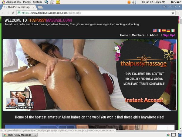 Login To Thai Pussy Massage Free