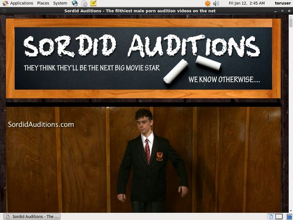 Sordidauditions Trial Discount
